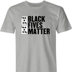 Funny poker black fives matter ash women's t-shirt