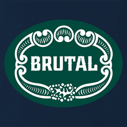 funny Brutal Brute for Men Mashup white men's t-shirt