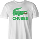 Happy Gilmore Chubbs Peterson Lacoste Parody men's t-shirt white