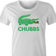 Happy Gilmore Chubbs Peterson Lacoste Parody women's t-shirt white