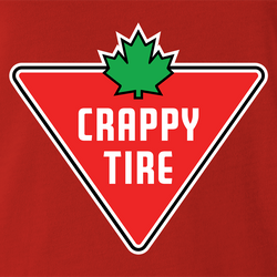 funny Canadian Crappy-Tire Parody t-shirt men's t-shirt