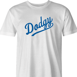 funny LA Dodgers british slang parody men's t-shirt white