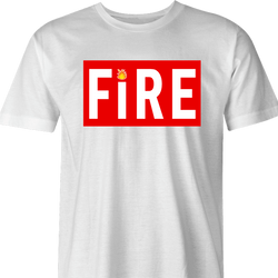 Straight Fire Life Magazine Parody t-shirt white men's