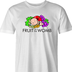 Funny pregnancy expecting mother t-shirt - Fruit of the Womb men's white