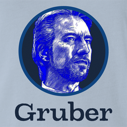 funny Die Hard Hans Gruber Gerber Baby Food Mashup white men's t-shirt