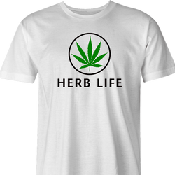 Weed Cannabis Herbal Life Parody t-shirt white men's