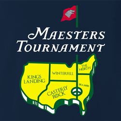 funny Game Of Thrones The Masters Golf Tournament t-shirt white men's