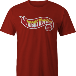 big shaq hot wheels mans not hot men's red t-shirt