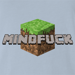 Minecraft Mindfuck Parody men's t-shirt white