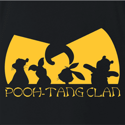 Funny winnie the pooh and friends wu-tang mashup men's  t-shirt