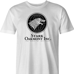 funny Wolf of Wall street Game of thrones mashup men's white t-shirt