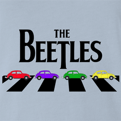funny The Beatles an beetle volkswagon parody parody t-shirt white men's