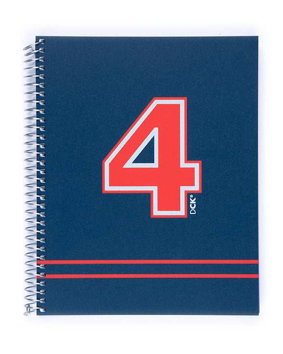 Miquelrius Fresh Spiral Bound Poly Notebook, DCK Navy (6 x 8, 4-Subject, Graph Paper) 140 SHEETS