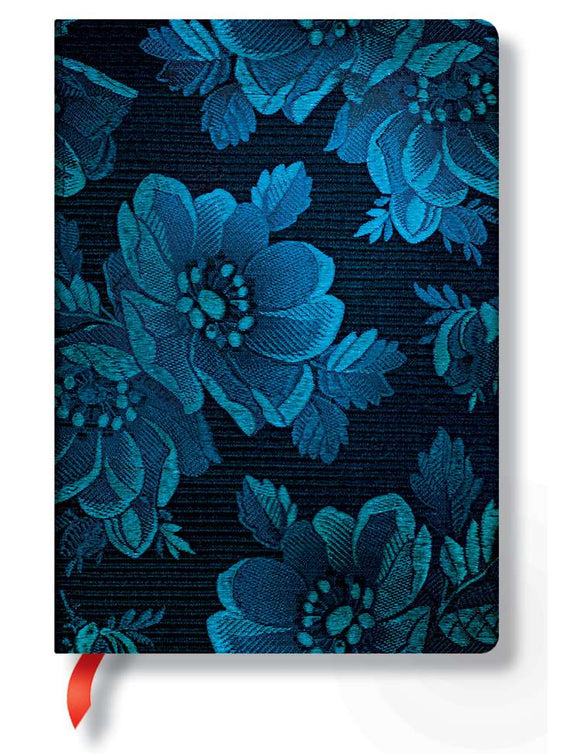 Paperblanks Writing Journal, Chic & Satin, Blue Muse Midi 5