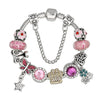 Murano Glass Beads & Crystal Paw Prints Bracelet