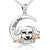 Flower Pup Pendant Necklace (Sterling Silver)