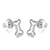 Bone Stud Earrings (Sterling Silver)