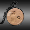 Footprints & Dog Paw Prints - Pendant Necklace
