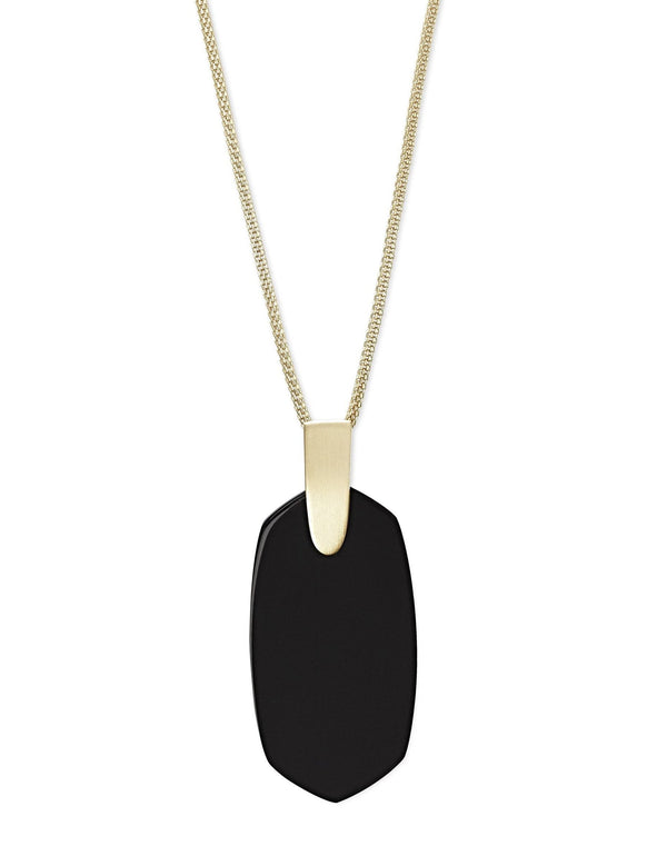 Kendra Scott Inez Necklace - Black Opaque Glass