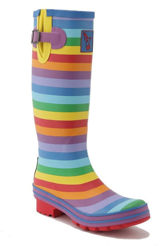 Evercreatures Womens Rainbow Wellington Boots