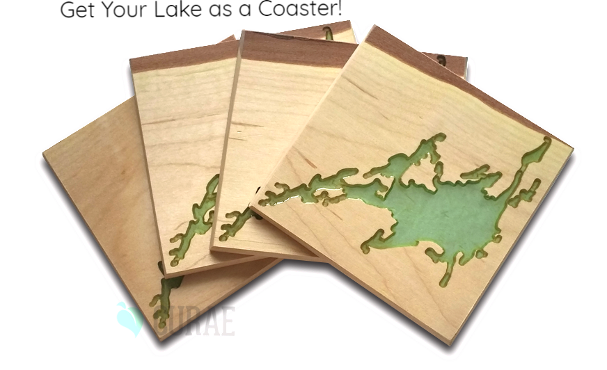 "Custom ""Any Lake"" Coaster Set - Curae"