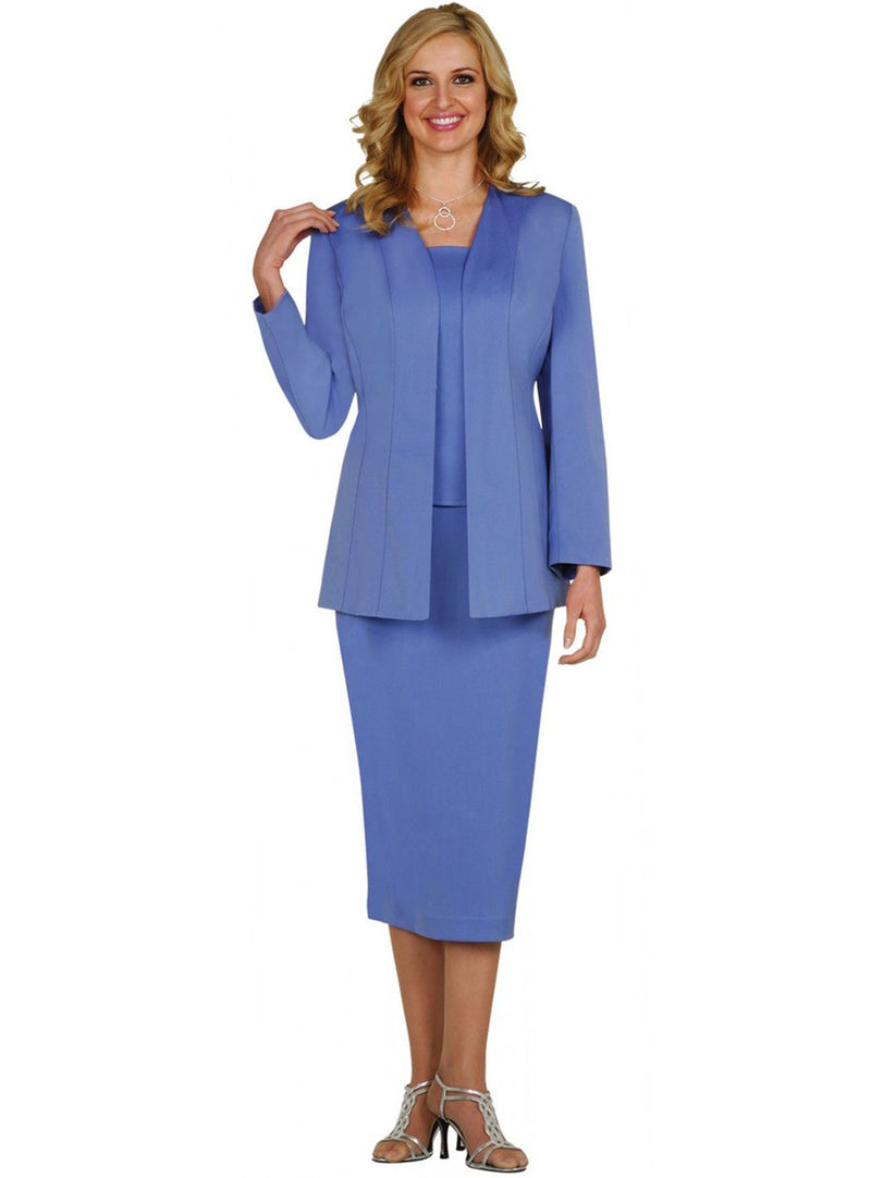 Simple Periwinkle Usher Suit