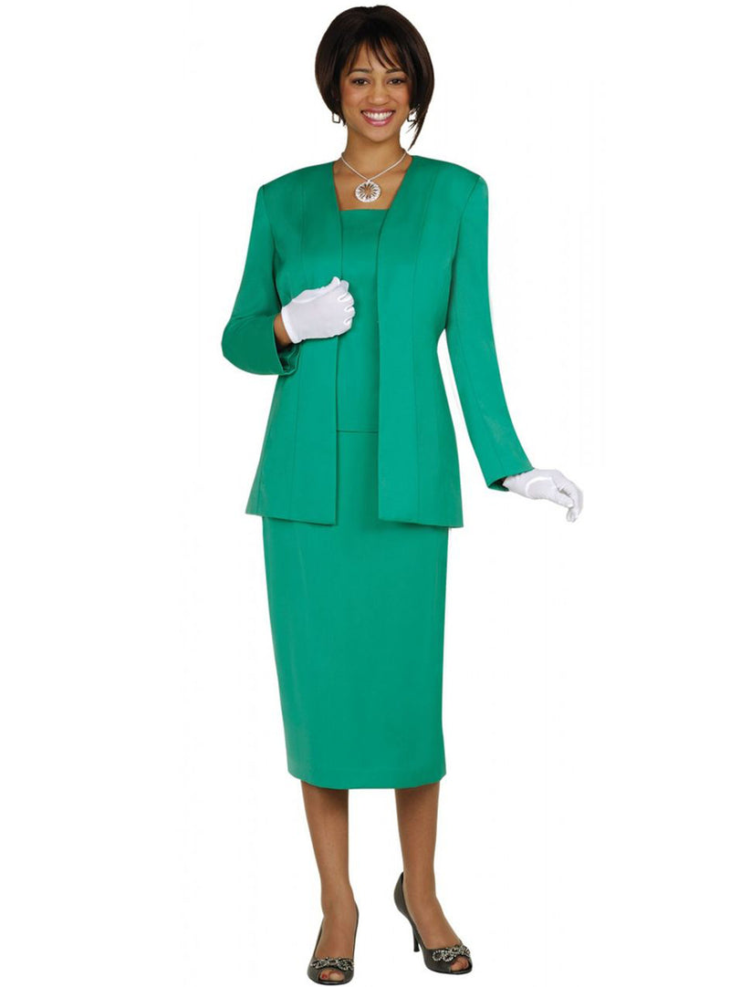 Simple Emerald Usher Suit