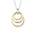 14K Two Tone Fashion Diamond Necklace