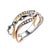 14K Tri Color Gold Fashion Diamond Ring