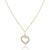 14K Two tone double heart pendant necklace