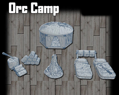 28mm Orc Camp