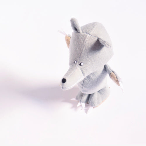 Handmade Wolf, Organic Plush Toy for Kids