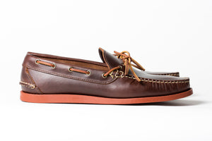 Camp Moccasin- Chestnut Frontier- Brick Red Camp Sole