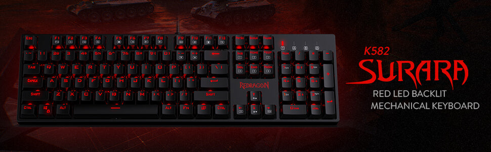 K582 Red Keyboard