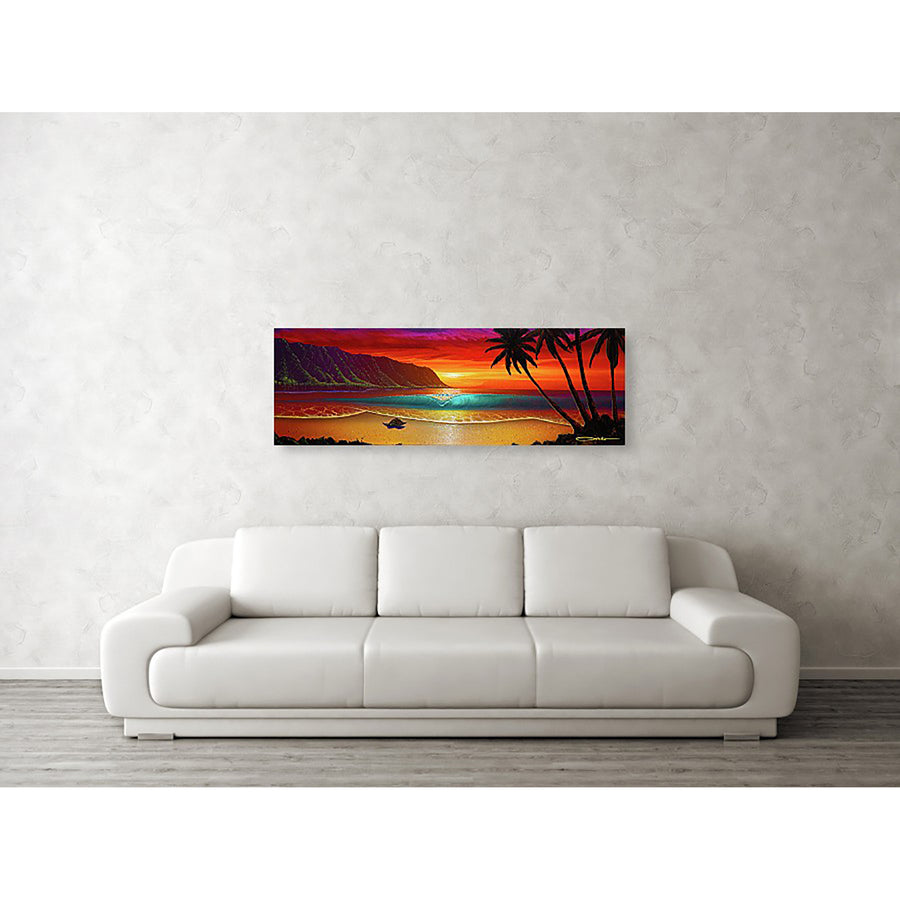 """North Shore Dream"" Original Painting on 12"" x 36"" Canvas"