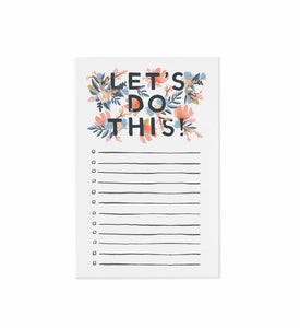 Let's Do This! Notepad by Rifle Paper Co.