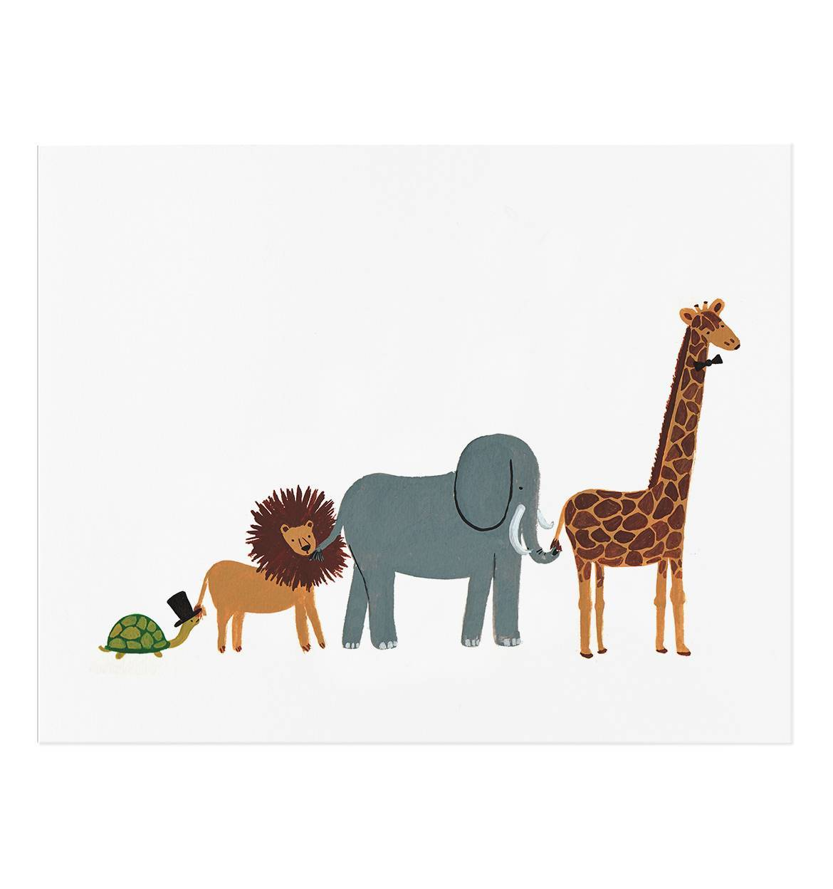 Animal Party Parade Illustrated 8x10 Art Print by Rifle Paper Co.