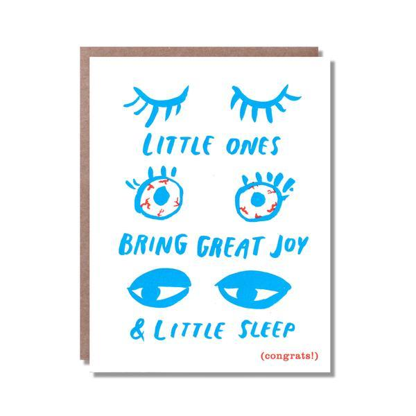 Little Ones, Little Sleep New Baby Card by Egg Press