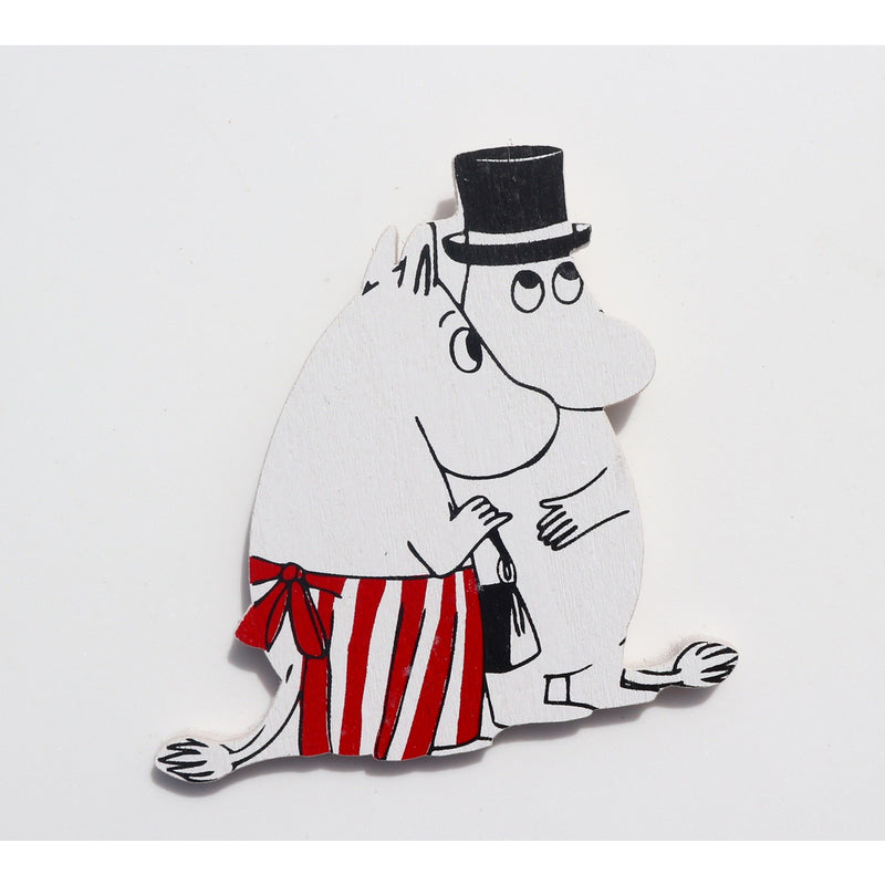 Wooden Magnet Moominmamma And Moominpappa