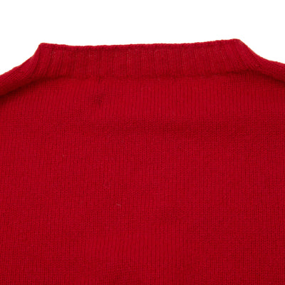 Harley Crew-Neck Cashmere Jumper in College Red