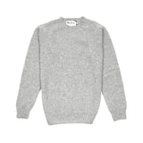 Harley Crew-Neck Supersoft Shetland Jumper in Silver