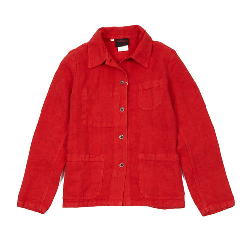 Vetra Women's 2L44/4F Linen Jacket in Poppy