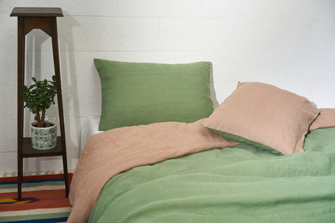 "Flax Bedding Set ""Green/Brown"" AW'18/19"