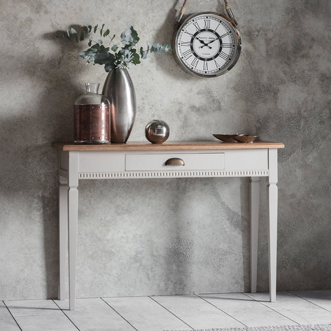 Gallery Bronte 1 Drawer Console Table in Taupe