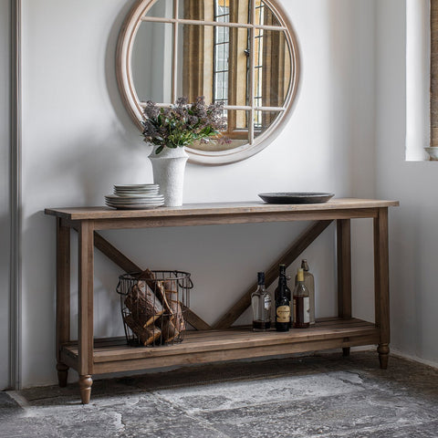 Gallery Cookham Trestle Console Table in Oak