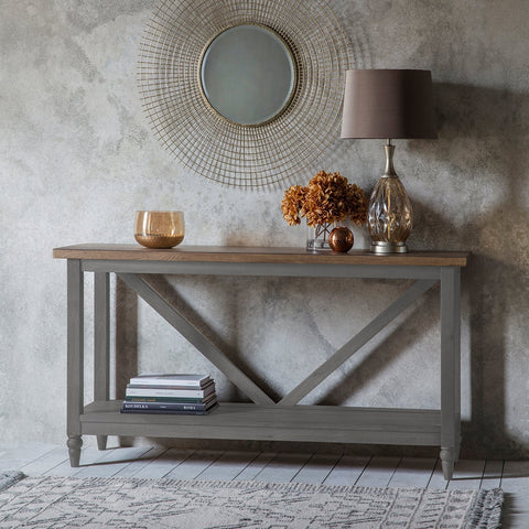 Gallery Cookham Trestle Console Table in Grey