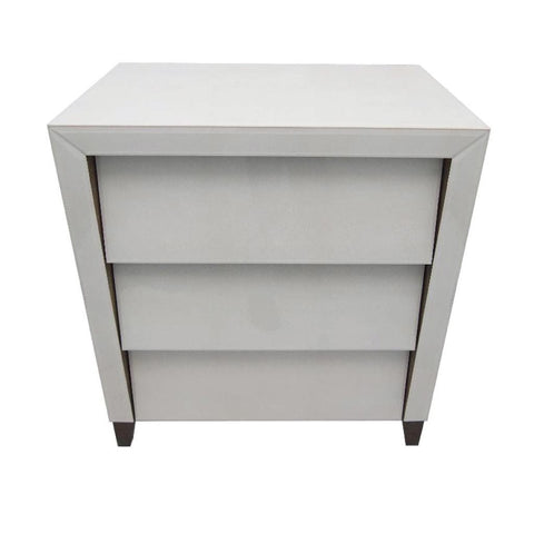 Iced Ivory shagreen 3 Drawer Chest