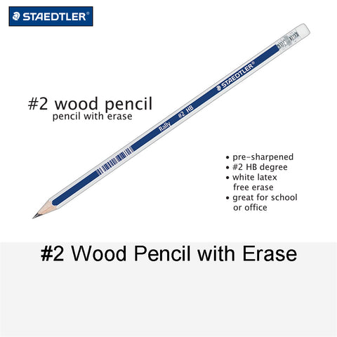 #2 WOOD PENCIL WITH ERASER