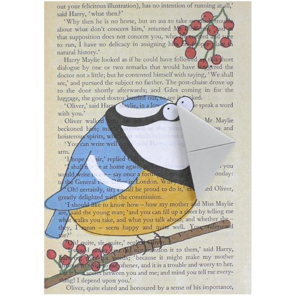 Blue Tit Card and Bookmark