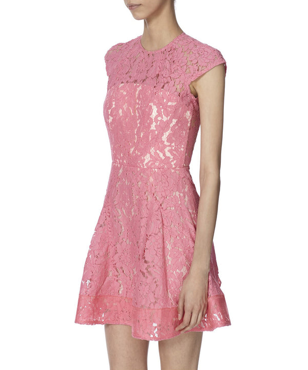 CAP SLEEVE LACE FLIP DRESS SIDE VIEW